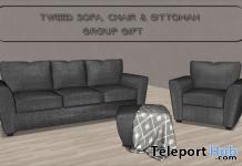 Tweed Sofa Set April 2021 Group Gift by Careless - Teleport Hub - teleporthub.com