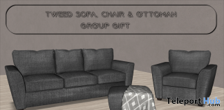 Tweed Sofa Set April 2021 Group Gift by Careless - Teleport Hub - teleporthub.com