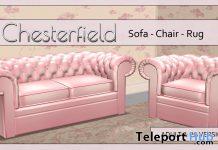 Chesterfield Pink Sofa, Chair & Rug Set April 2021 Group Gift by Careless - Teleport Hub - teleporthub.com