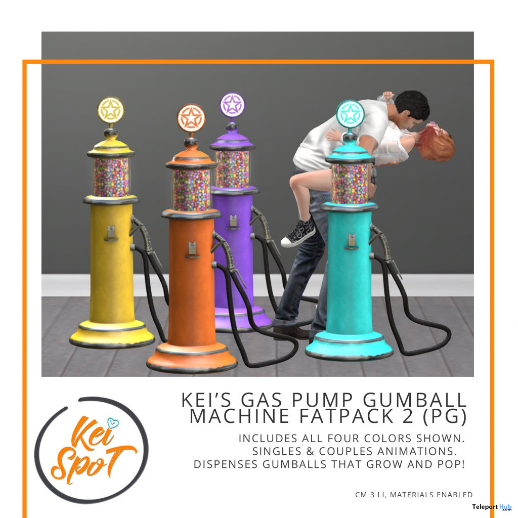 Gas Pump Gumball Machine PG Fatpack 77th Street Event April 2021 Round Group Gift by Kei Spot - Teleport Hub - teleporthub.com