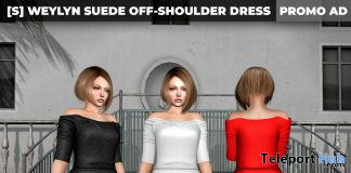 New Release: [S] Weylyn Suede Off-Shoulder Dress by [satus Inc] - Teleport Hub - teleporthub.com