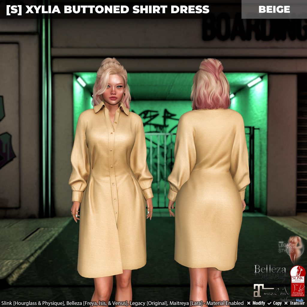 New Release: [S] Xylia Buttoned Shirt Dress by [satus Inc] - Teleport Hub - teleporthub.com