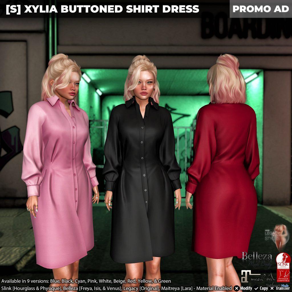 New Release: [S] Xylia Buttoned Shirt Dress by [satus Inc] - Teleport Hub - teleporthub.com
