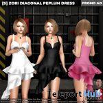 New Release: [S] Zori Diagonal Peplum Dress by [satus Inc] - Teleport Hub - teleporthub.com