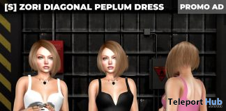 New Release: [S] Zori Diagonal Peplum Dress by [satus Inc] - Teleport Hub - teleporthub.com