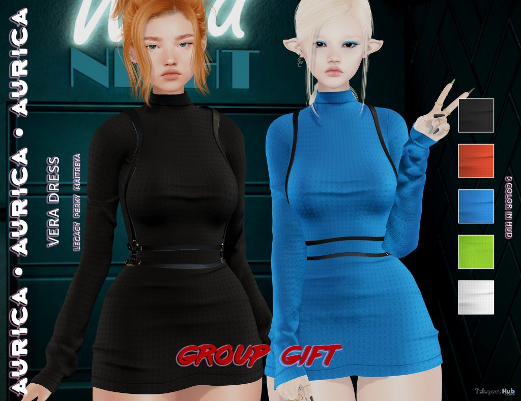 Vera Dress Pack May 2021 Group Gift by AuricA - Teleport Hub - teleporthub.com