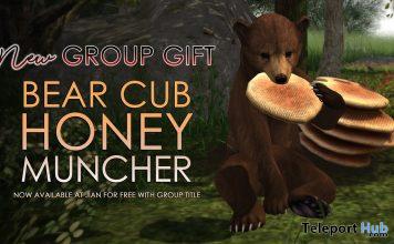 Bear Cub Honey Muncher May 2021 Group Gift by JIAN - Teleport Hub - teleporthub.com