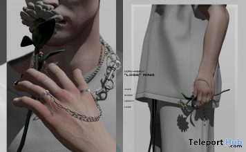 LOSE Ring L'HOMME Magazine May 2021 Group Gift by Dope+Mercy - Teleport Hub - teleporthub.com