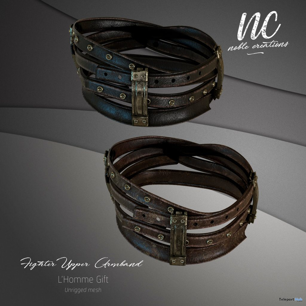 Fighter Upper Armband L'HOMME Magazine May 2021 Group Gift by Noble Creations - Teleport Hub - teleporthub.com