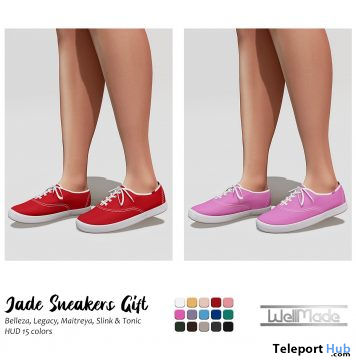 Jade Sneakers Fatpack May 2021 Group Gift by [WellMade] - Teleport Hub - teleporthub.com