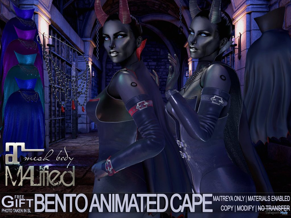 Bento Animated Cape Fatpack May 2021 Group Gift by MALified - Teleport Hub - teleporthub.com