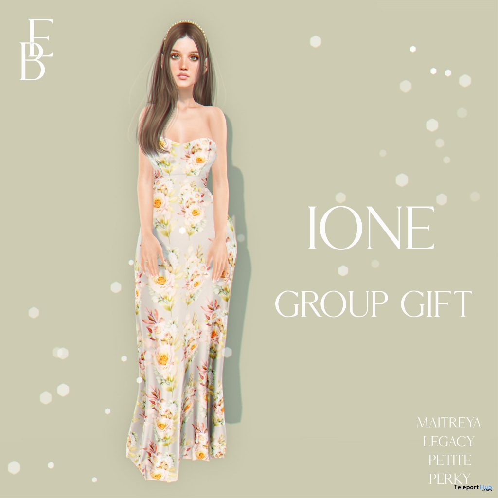 Ione Dress May 2021 Group Gift by Belle Epoque - Teleport Hub - teleporthub.com