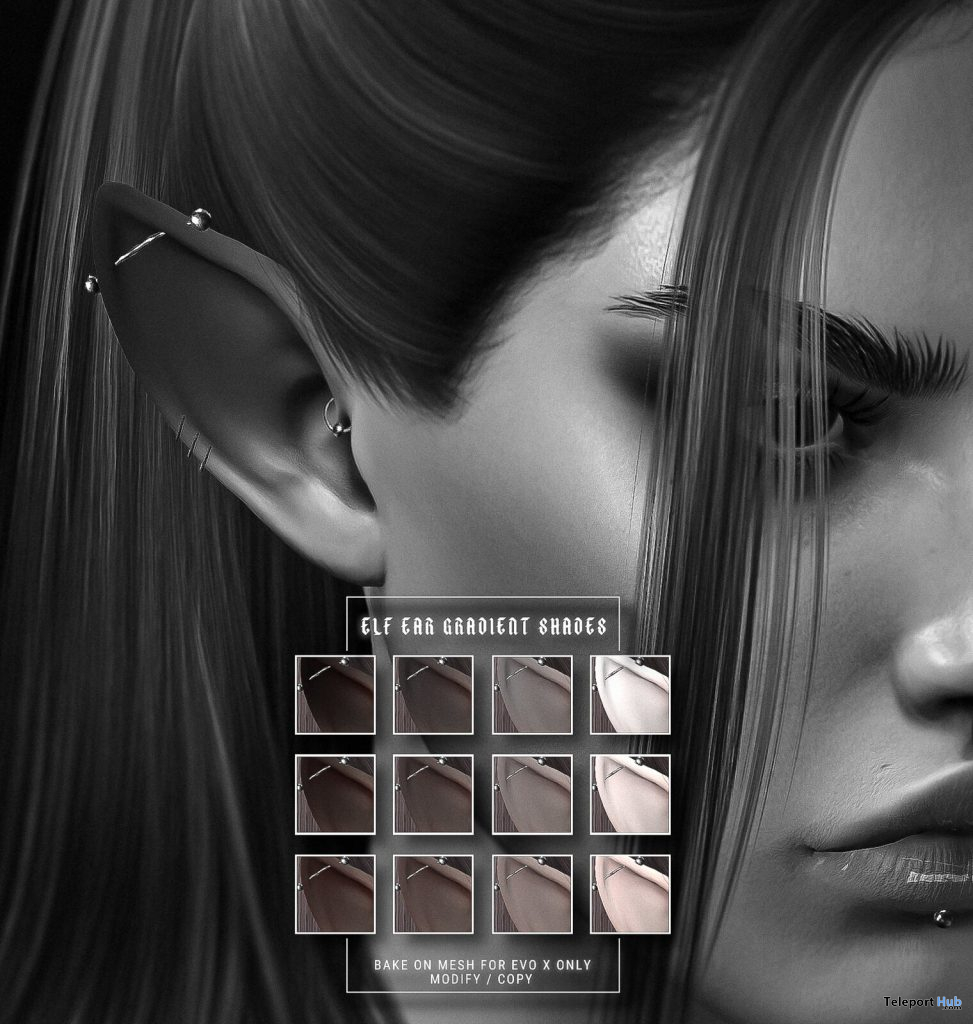 Ear Shades For Lelutka EvoX May 2021 Group Gift by Apothic - Teleport Hub - teleporthub.com