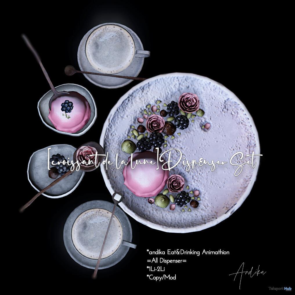 Croissant De La Lune Dispenser Set May 2021 Group Gift by Andika - Teleport Hub - teleporthub.com