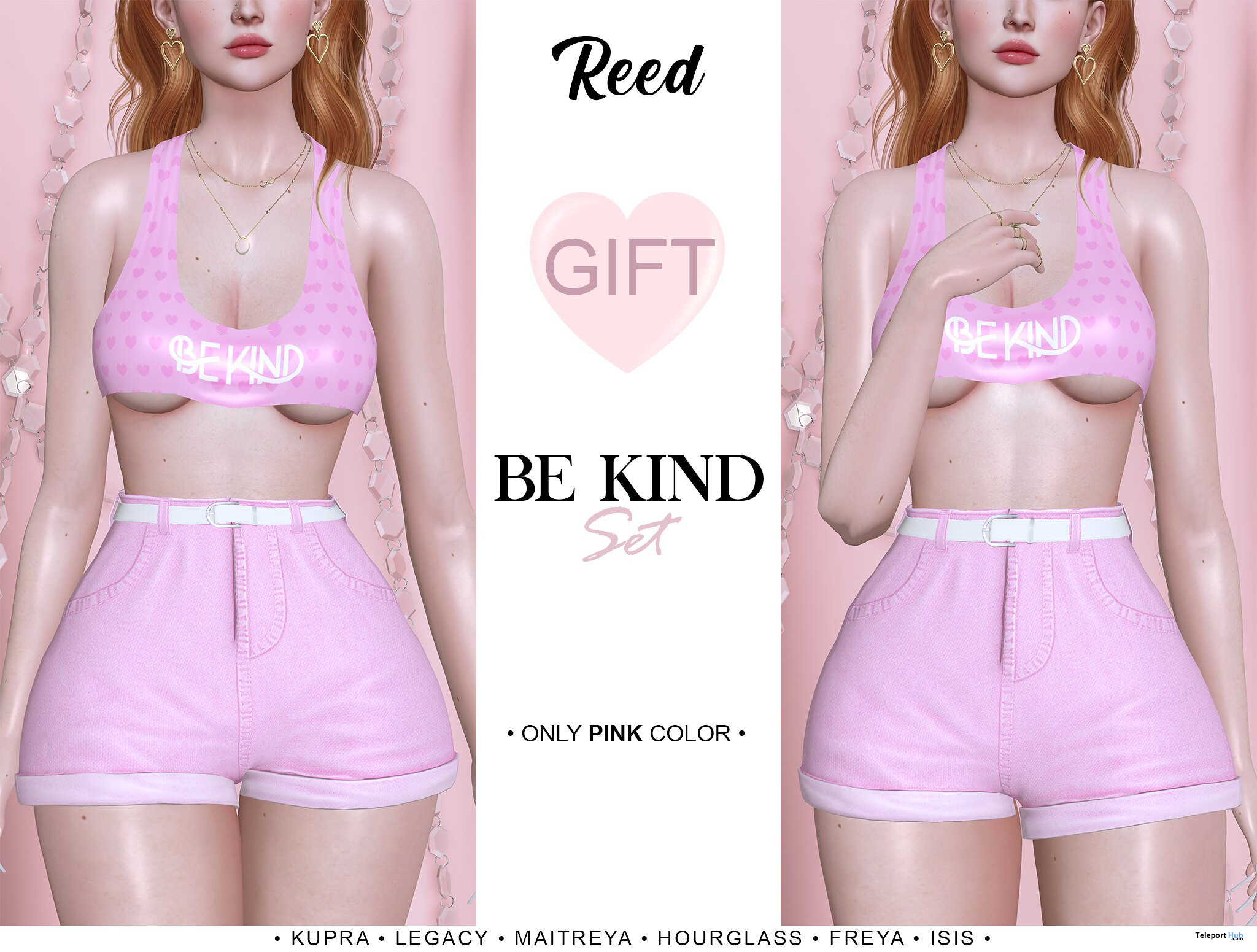 Be Kind Set Pink May 2021 Group Gift by REED - Teleport Hub - teleporthub.com
