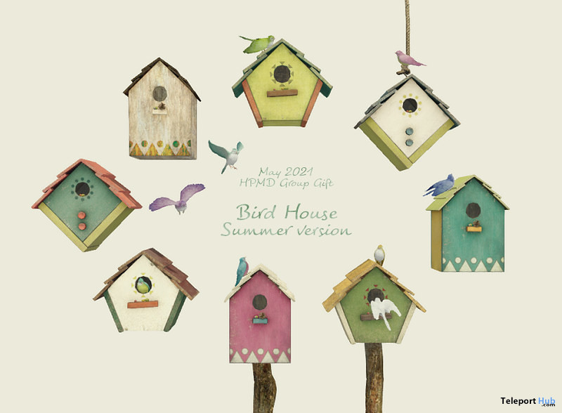 Bird House Summer Version May 2021 Group Gift by HPMD - Teleport Hub - teleporthub.com