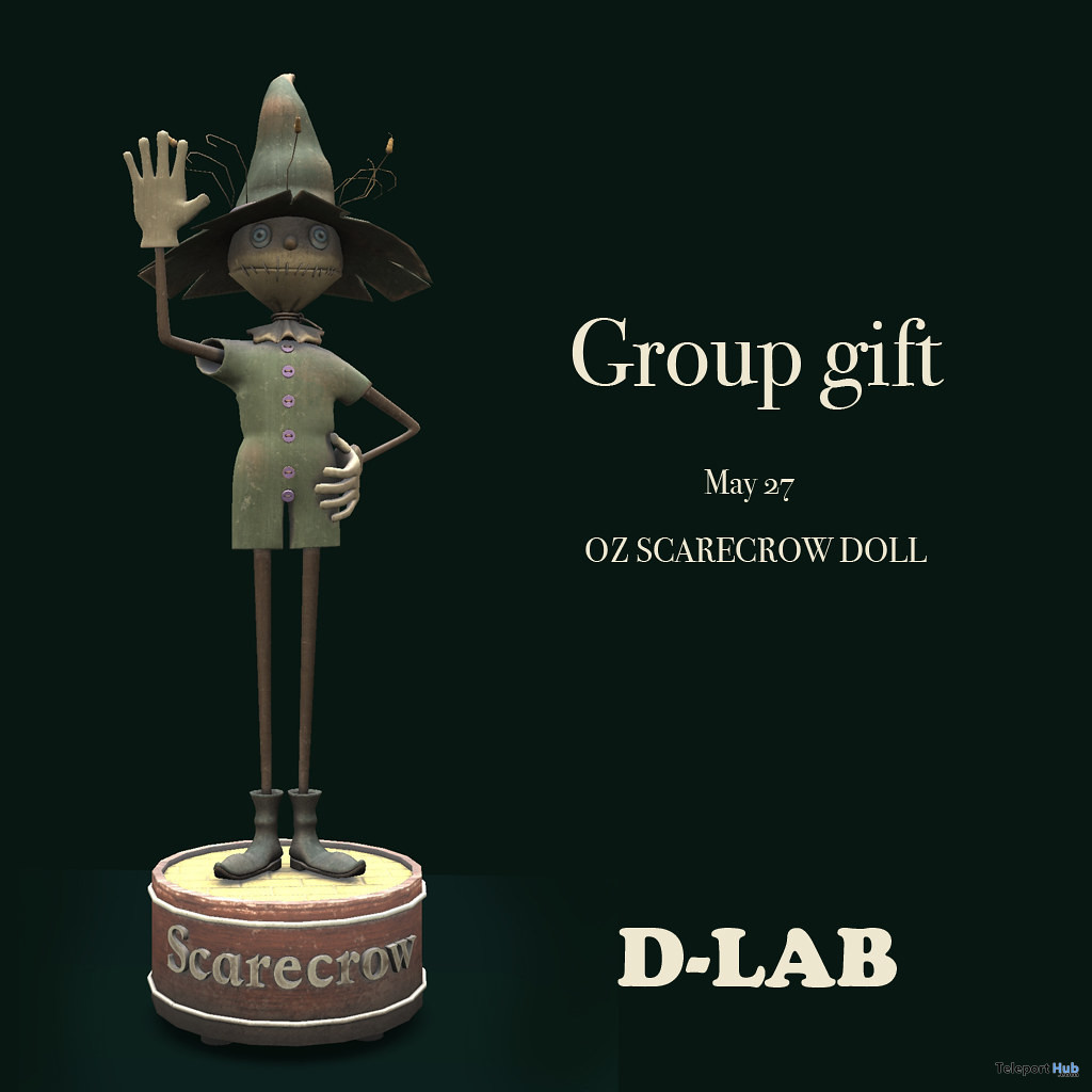 OZ Scarecrow Doll May 2021 Group Gift by D-LAB - Teleport Hub - teleporthub.com