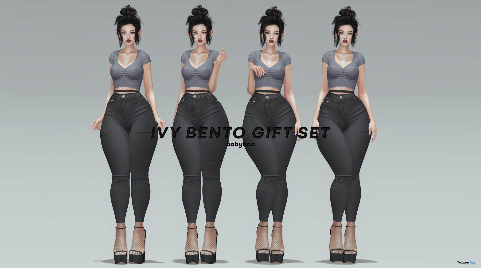 Ivy Bento Pose Set May 2021 Group Gift by Babyboo - Teleport Hub - teleporthub.com