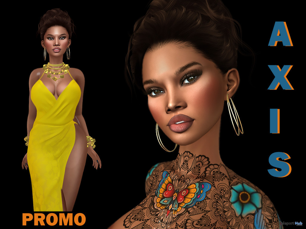 Amadi Shape For Lelutka Lily Head 7L Promo by Axis - Teleport Hub - teleporthub.com