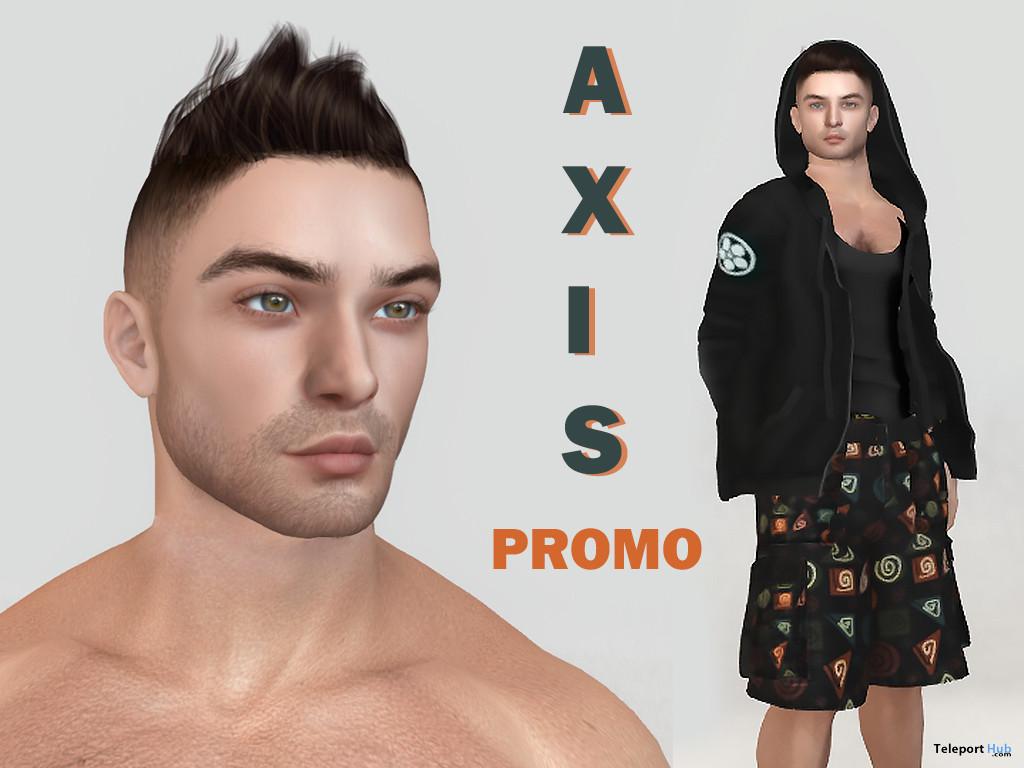 Henry Shape For Lelutka Alain Head 2L Promo by Axis - Teleport Hub - teleporthub.com