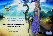 Dragon Mother Dress May 2021 Group Gift by Sanjak - Teleport Hub - teleporthub.com