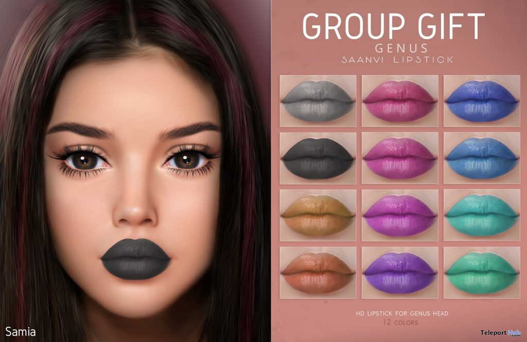 Saanvi Lipsticks For Genus Mesh Head May 2021 Group Gift by SAMIA - Teleport Hub - teleporthub.com