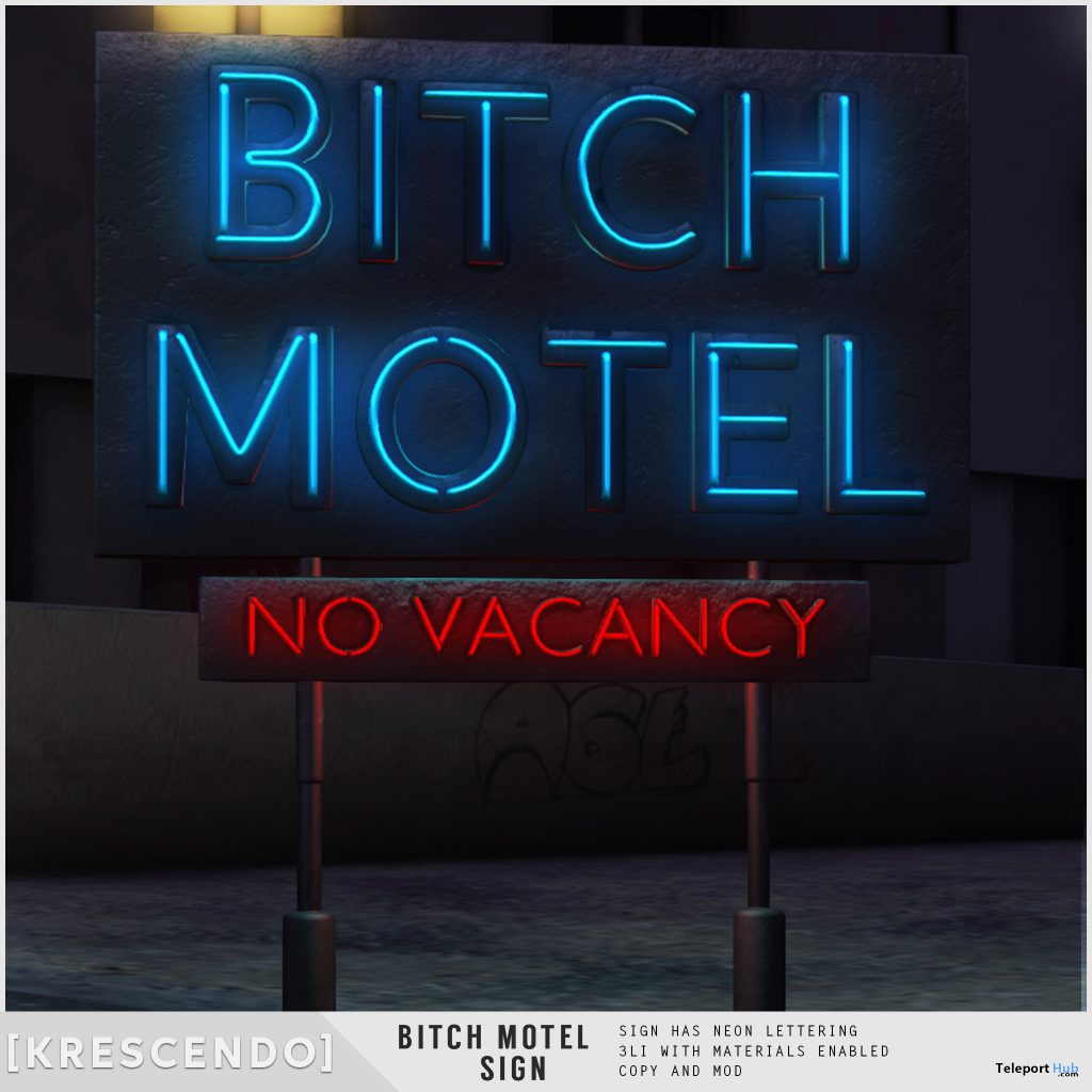 Bitch Motel Sign May 2021 Subscriber Gift by [Krescendo] - Teleport Hub - teleporthub.com