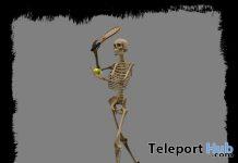 Tennis Skeleton May 2021 Group Gift by Aquatica Mesh - Teleport Hub - teleporthub.com
