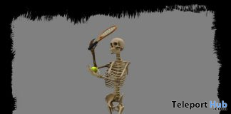 Tennis Skeleton May 2021 Group Gift by Aquatica Mesh - Teleport Hub - teleporthub.com
