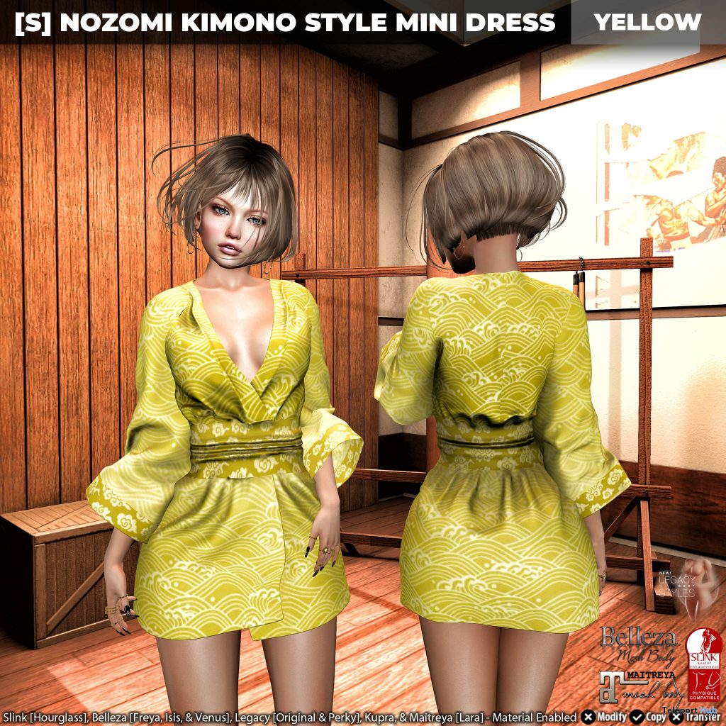 New Release: [S] Nozomi Kimono Style Mini Dress by [satus Inc] - Teleport Hub - teleporthub.com