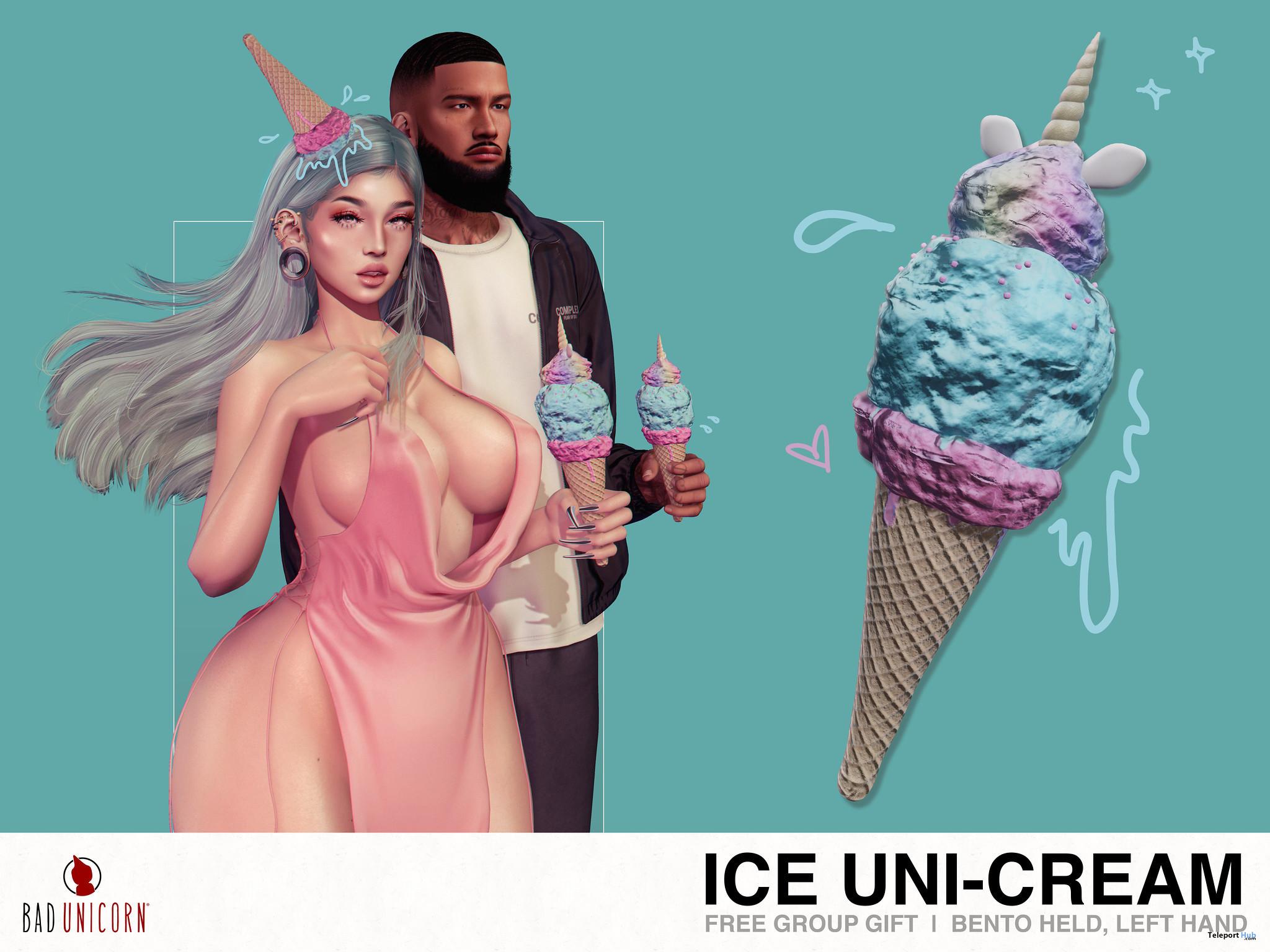 Ice Uni-Cream June 2021 Group Gift by Bad Unicorn - Teleport Hub - teleporthub.com