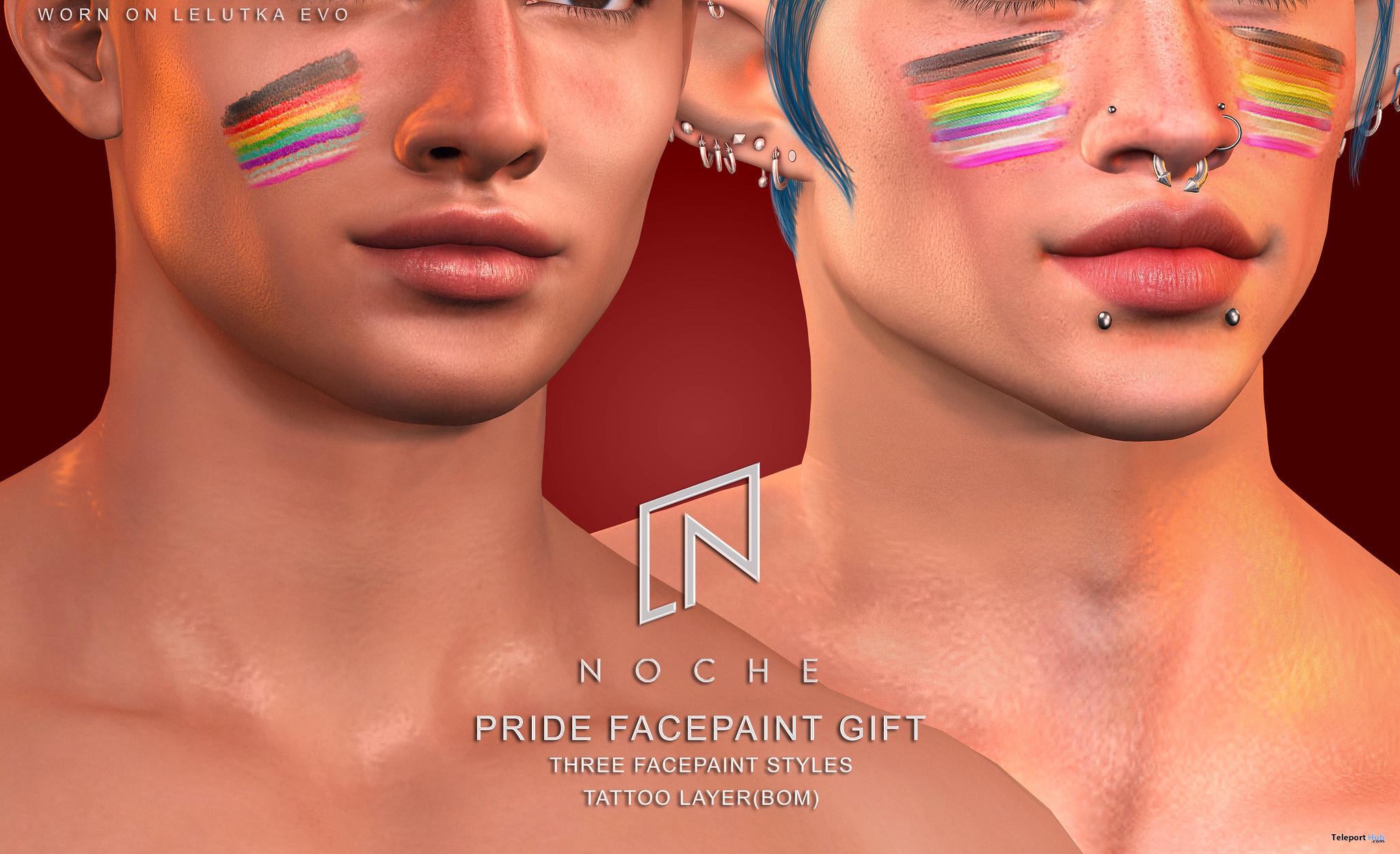 Pride Facepaint Set June 2021 Gift by Noche - Teleport Hub - teleporthub.com