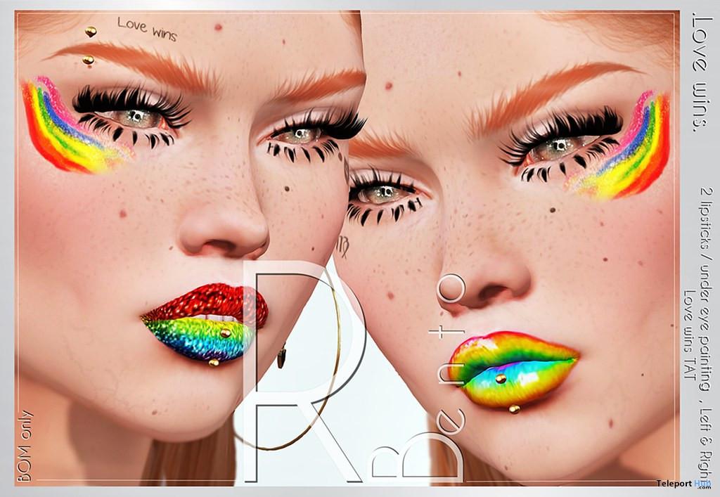 Love Wins Pride Makeup June 2021 Gift by RBento - Teleport Hub - teleporthub.com