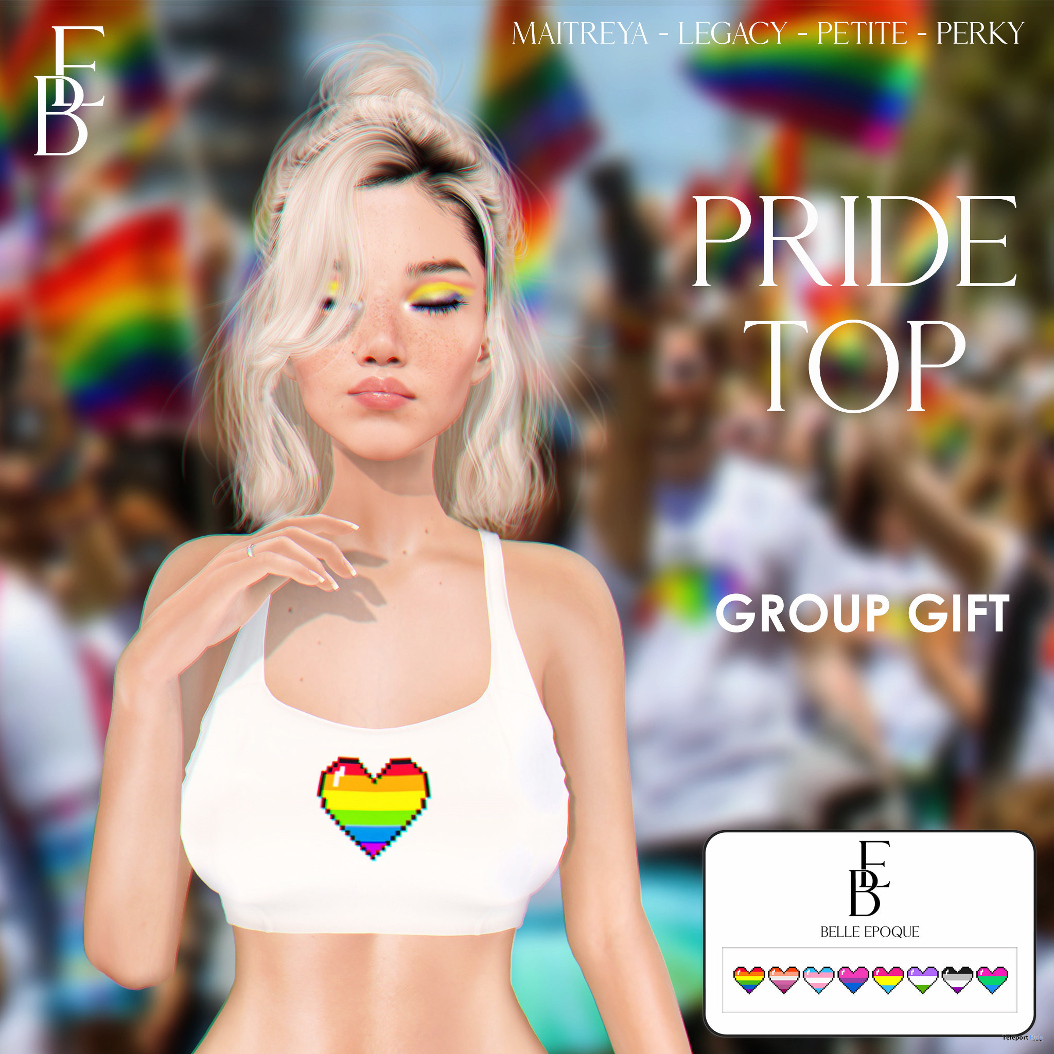 Pride Top With HUD June 2021 Group Gift by Belle Epoque - Teleport Hub - teleporthub.com