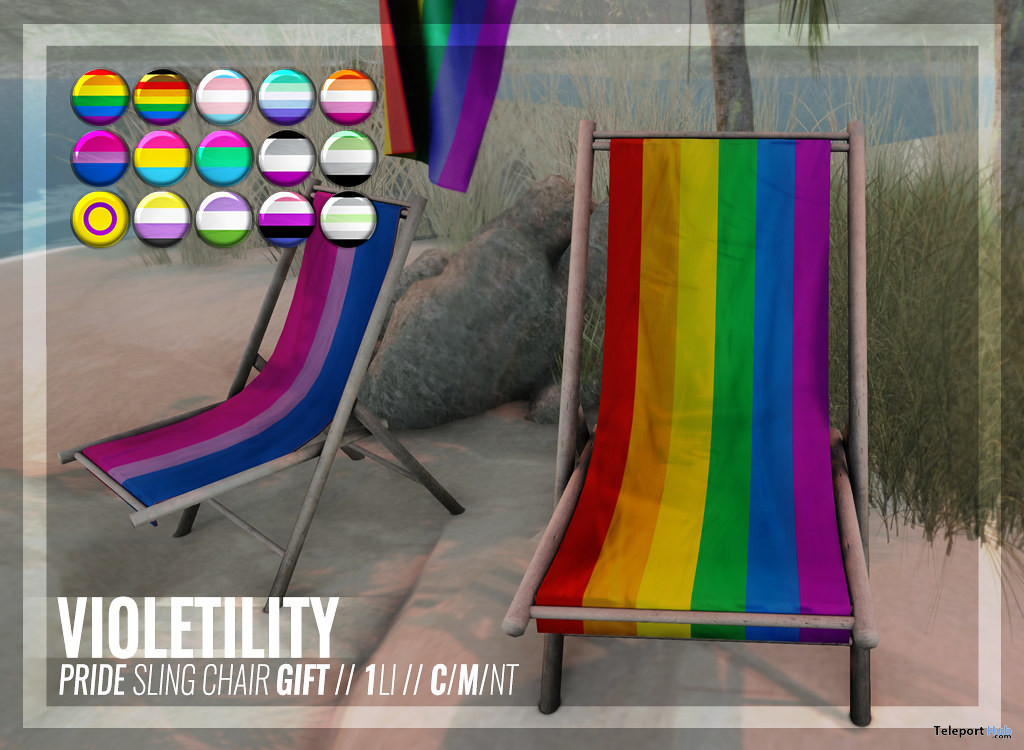 Pride Sling Chair June 2021 Gift by Violetility - Teleport Hub - teleporthub.com
