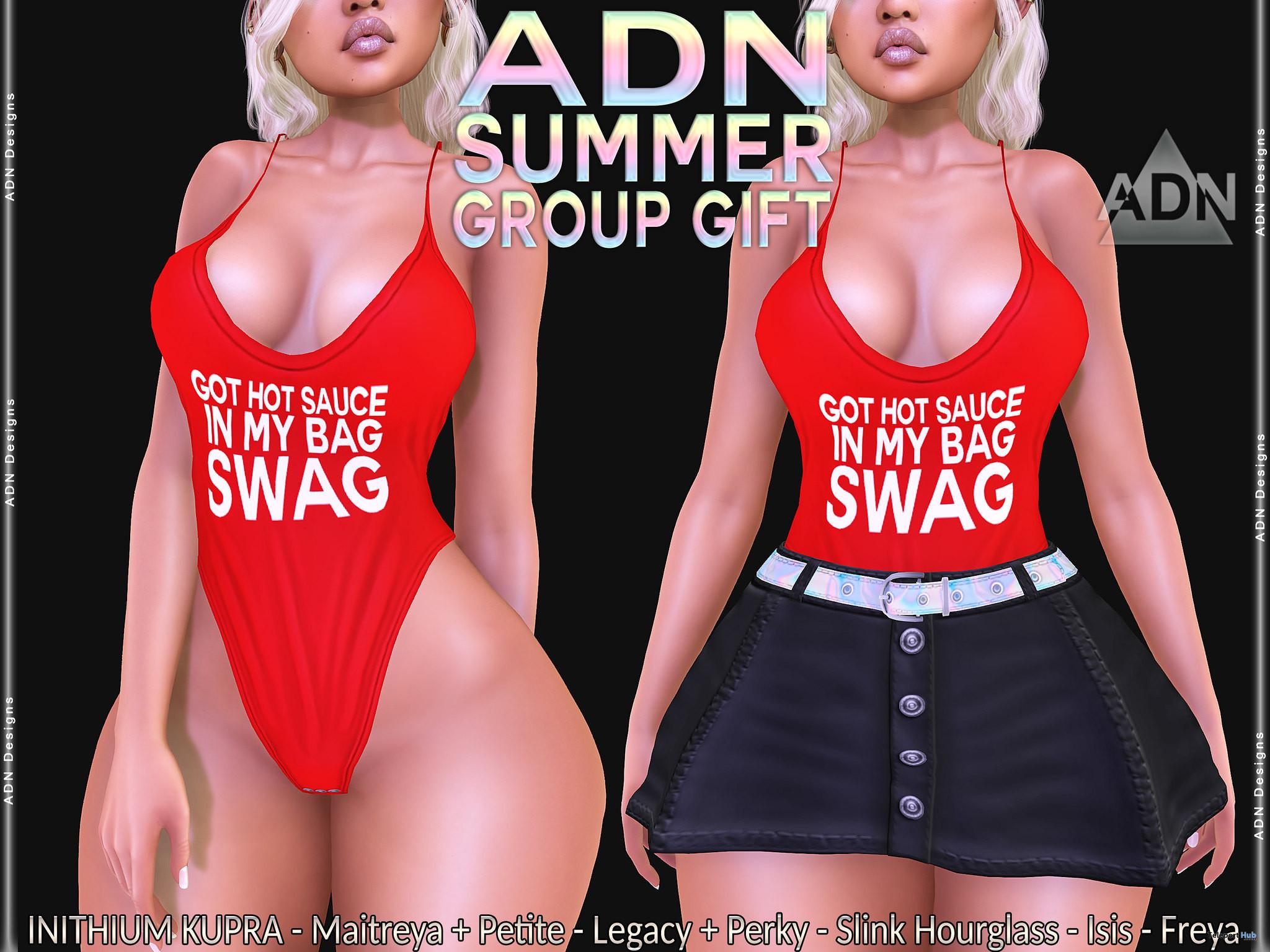 Summer Swimsuit & Skirt June 2021 Group Gift by ADN Designs - Teleport Hub - teleporthub.com