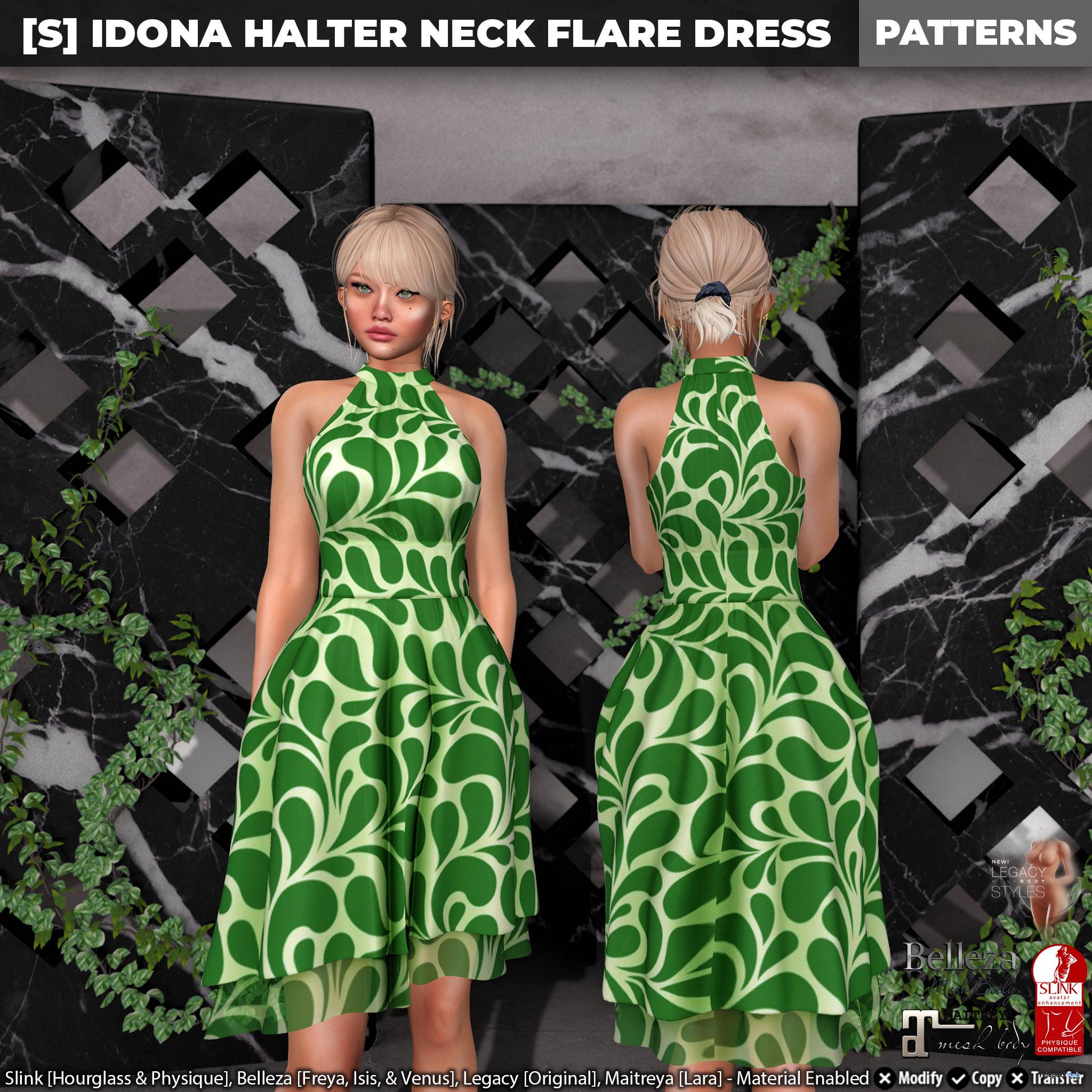 New Release: [S] Idona Halter Neck Flare Dress by [satus Inc] - Teleport Hub - teleporthub.com