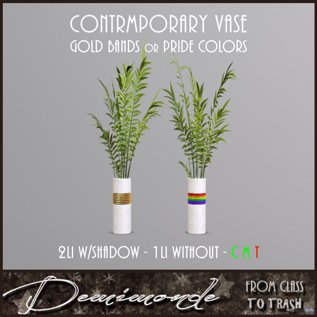 Contemporary Vase In Gold & Pride Editions June 2021 Gift by Demimonde - Teleport Hub - teleporthub.com
