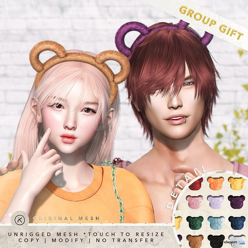 Bear Headband June 2021 Group Gift by kotte - Teleport Hub - teleporthub.com