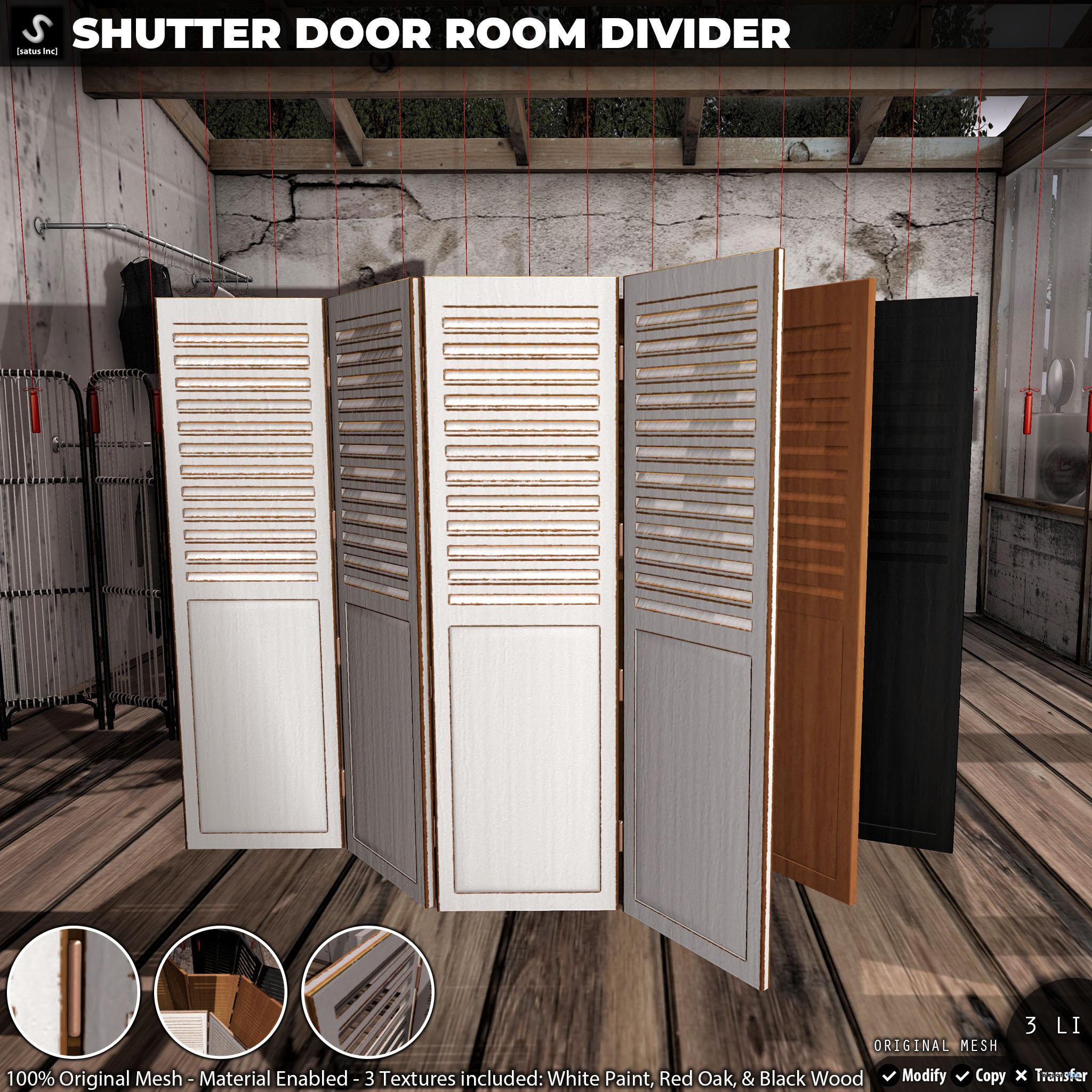 New Release: Shutter Door Room Divider by [satus Inc] - Teleport Hub - teleporthub.com
