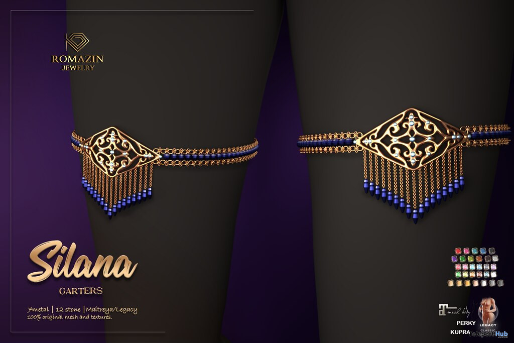New Release: Silana Garters by Romazin Jewelry @ WIP Event July 2021 - Teleport Hub - teleporthub.com