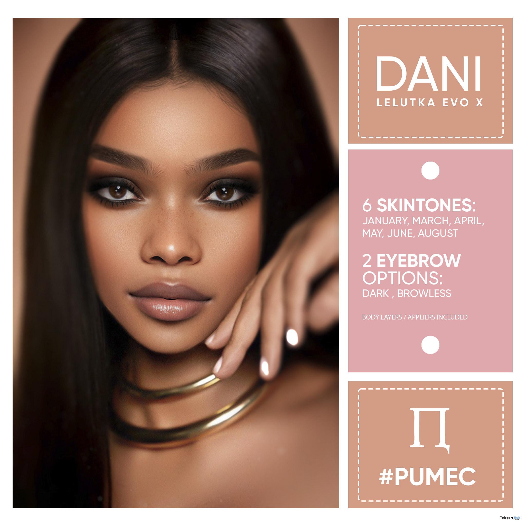 Demi Skin For Lelutka Evo X Mesh Heads July 2021 Group Gift by PUMEC - Teleport Hub - teleporthub.com
