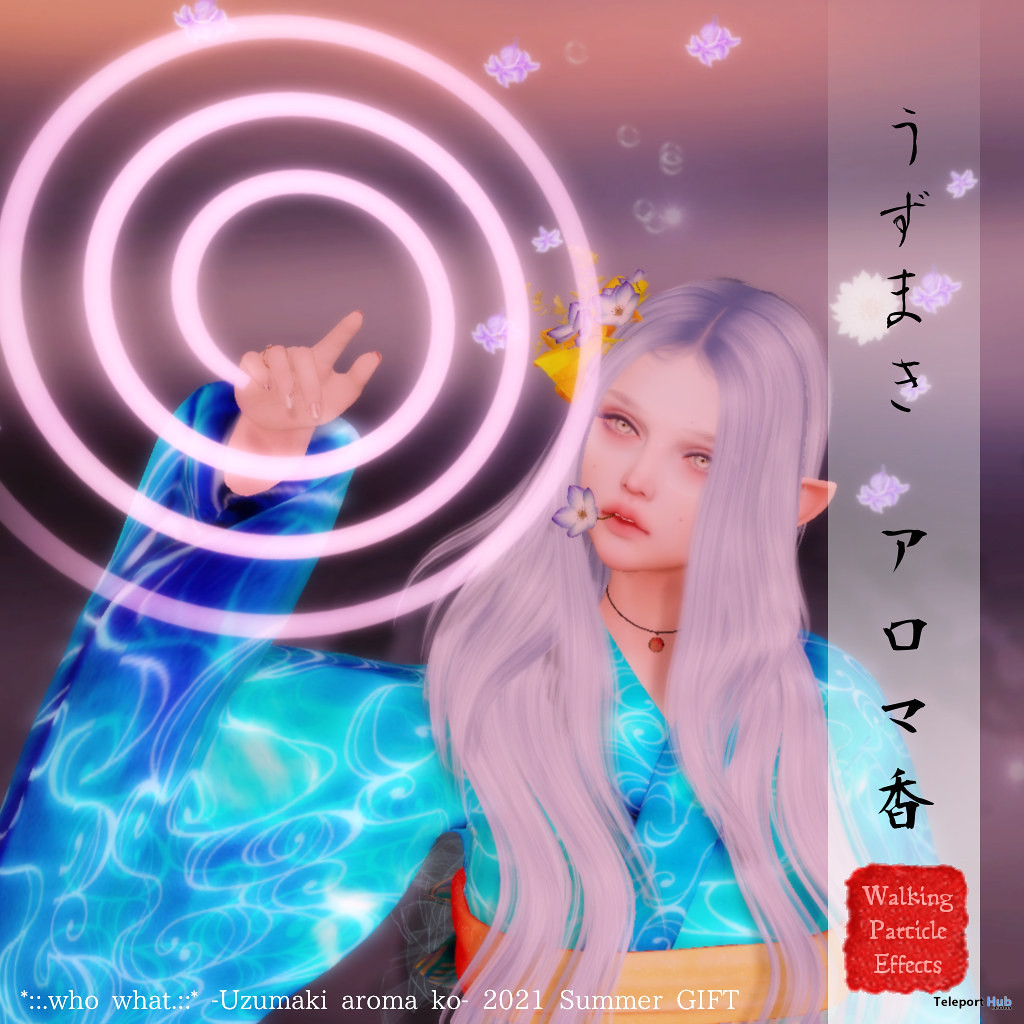 Uzumaki Aroma Ko Walking Effect Japonica Event July 2021 Gift by who what - Teleport Hub - teleporthub.com