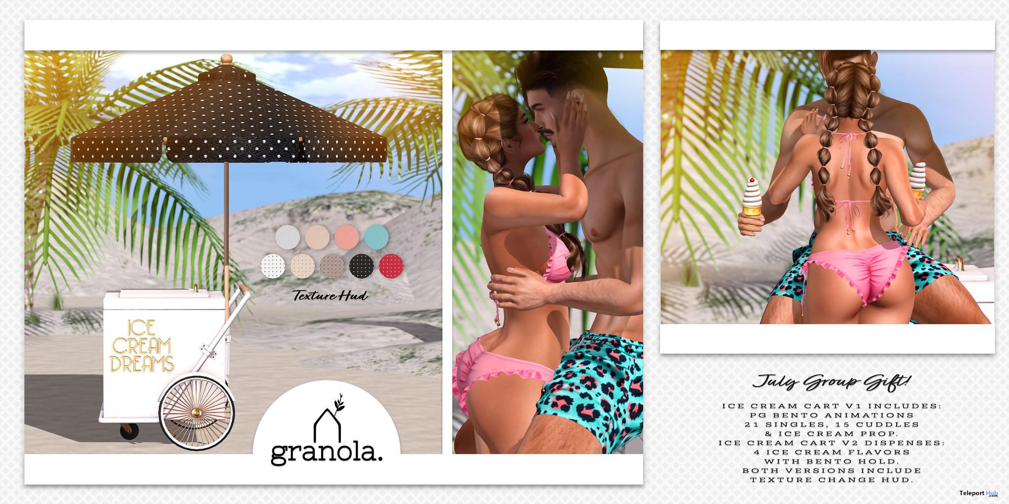 Ice Cream Cart V1 July 2021 Group Gift by Granola - Teleport Hub - teleporthub.com