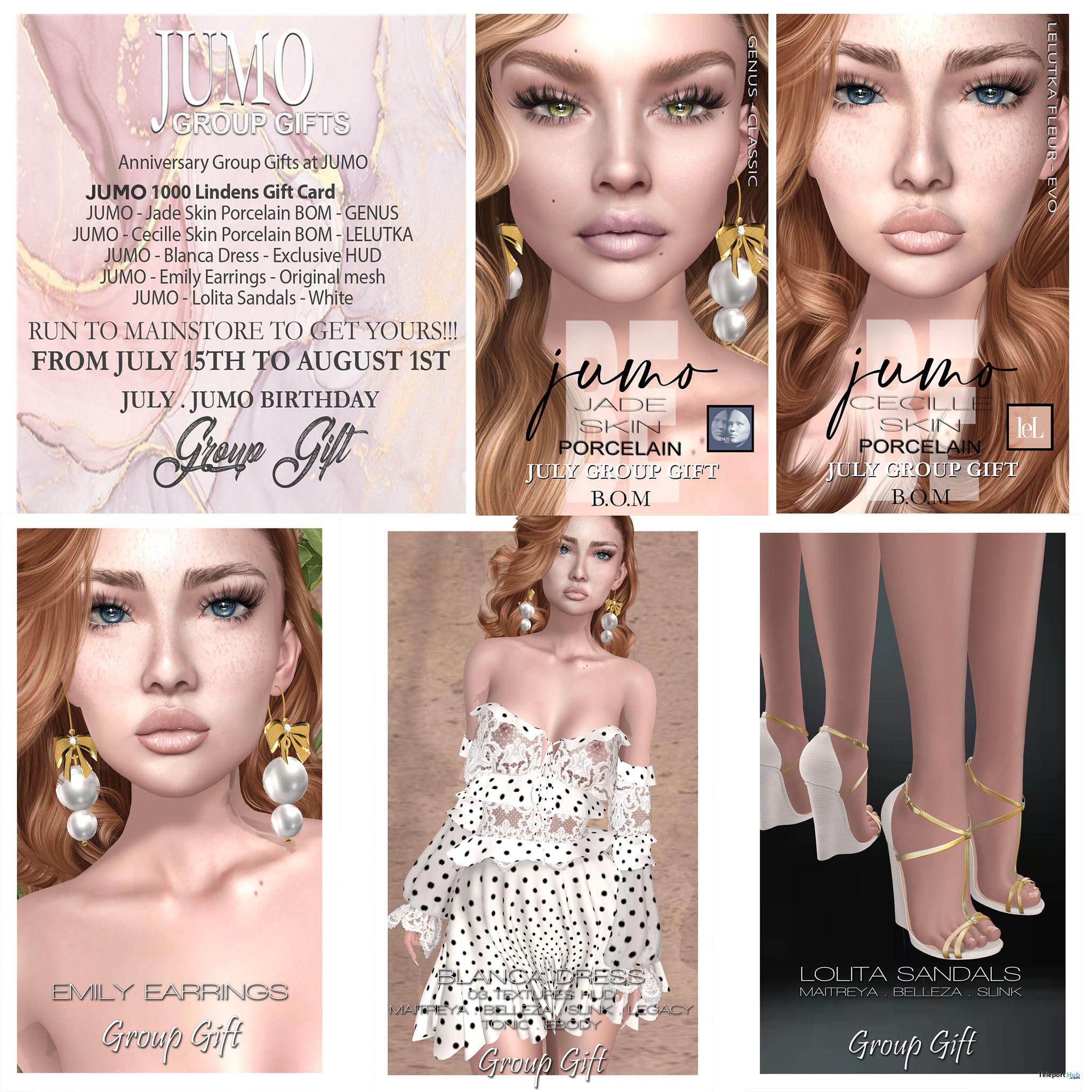 Several July 2021 Anniversary Group Gift by JUMO Originals - Teleport Hub - teleporthub.com