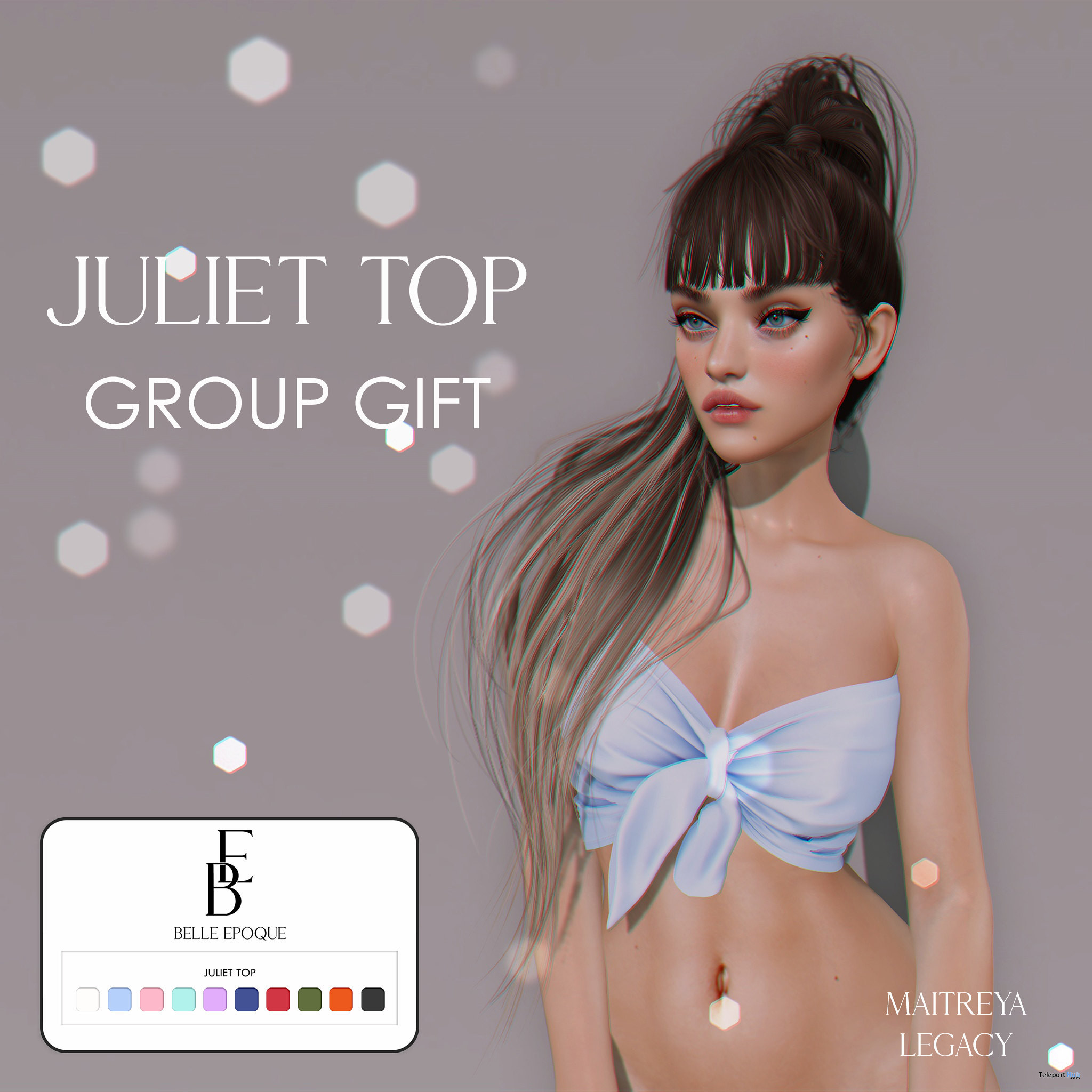 Juliet Top Fatpack July 2021 Group Gift by Belle Epoque - Teleport Hub - teleporthub.com