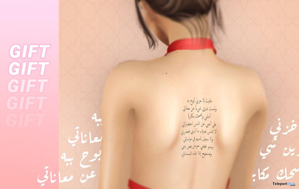 Arabic BOM Tattoo July 2021 Group Gift by RAMILLA - Teleport Hub - teleporthub.com