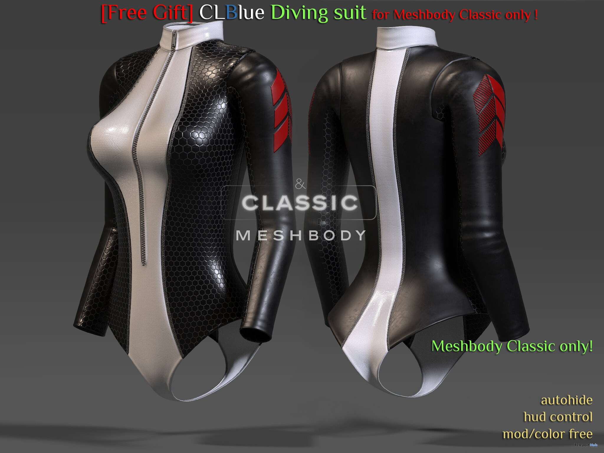 Diving Suit For Mesh Body Classic August 2021 Gift by CLBlue - Teleport Hub - teleporthub.com