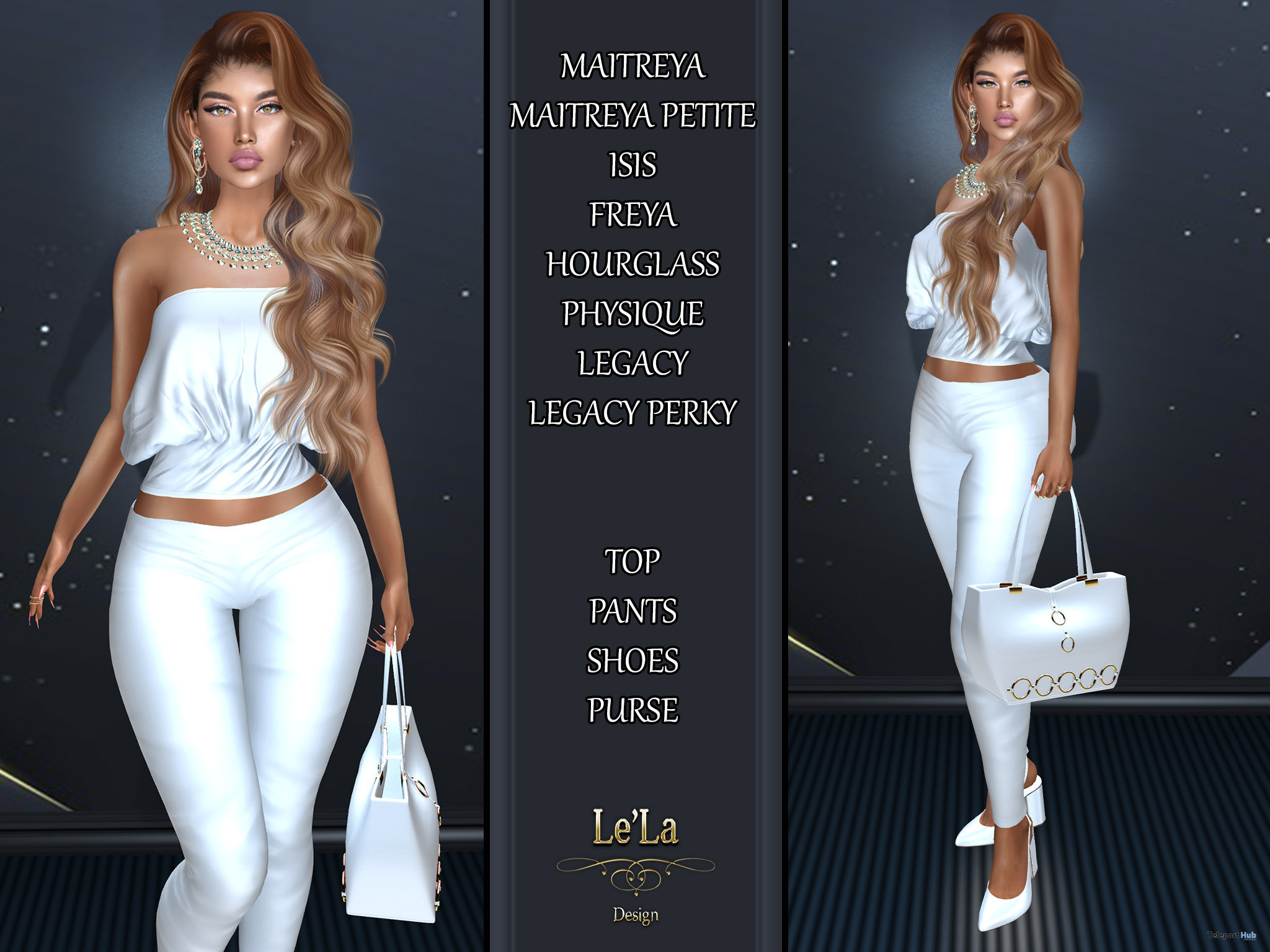 Inda Outfit Complete White July 2021 Group Gift by Le'La Design - Teleport Hub - teleporthub.com