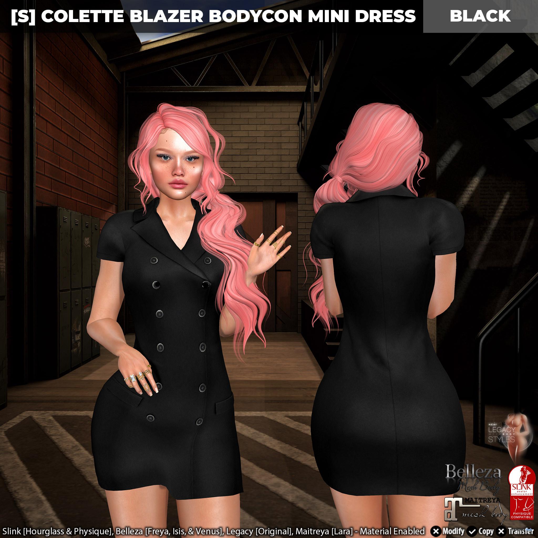 New Release: [S] Colette Blazer Bodycon Mini Dress by [satus Inc] - Teleport Hub - teleporthub.com